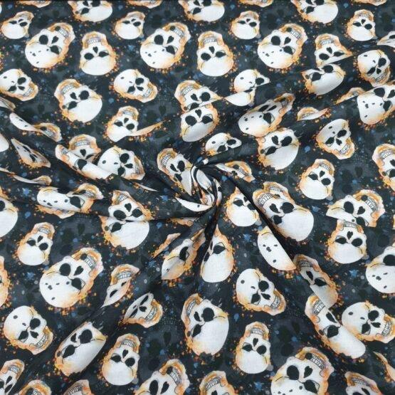 Popelin Algodon 100% Halloween Calaveras
